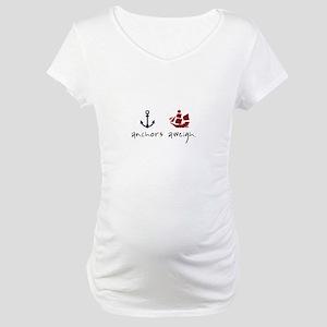 Anchors Aweigh Maternity T-Shirt