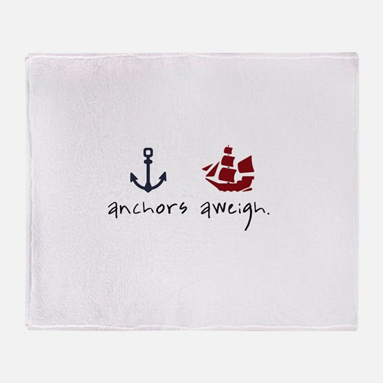 Anchors Aweigh Throw Blanket