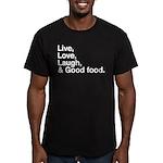 good food Men's Fitted T-Shirt (dark)