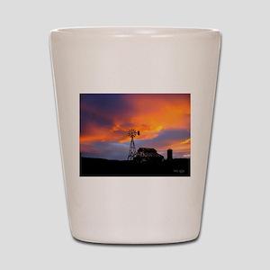 Sunset on the Farm Shot Glass