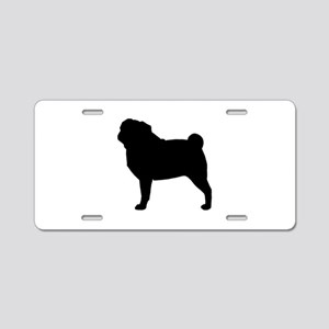 Pug Aluminum License Plate