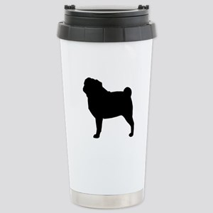 Pug Stainless Steel Travel Mug