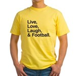 football Yellow T-Shirt