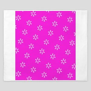 Pink Ribbon Breast Cancer Awareness King Duvet