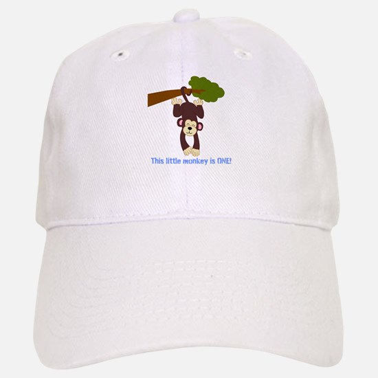 First Birthday Monkey Baseball Baseball Cap