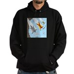 Squirrel and Basejumpers Cartoon Hoodie (dark)