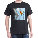 Squirrel and Basejumpers Cartoon Dark T-Shirt
