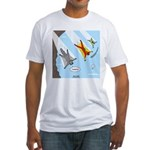 Squirrel and Basejumpers Cartoon Fitted T-Shirt