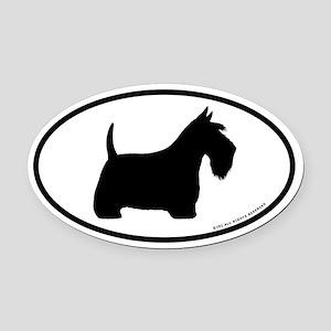 Scottish Terrier Oval Car Magnet
