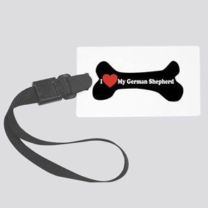 I Love My German Shepherd - Dog Bone Large Luggage