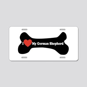 I Love My German Shepherd - Dog Bone Aluminum Lice