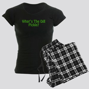 Whats The Dill Pickle? Women's Dark Pajamas