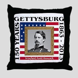 Winfield Scott Hancock - Gettysburg Throw Pillow