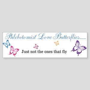 Phlebotomist love Butterflies Bumper Sticker Bumpe