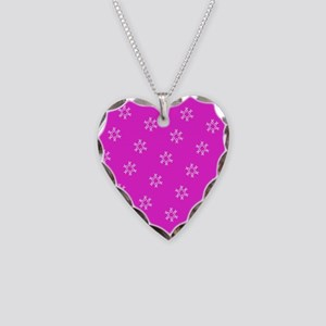 Pink Ribbon Breast Cancer Awareness Necklace Heart