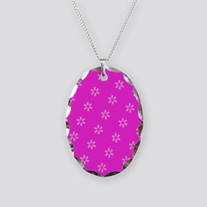 Pink Ribbon Breast Cancer Awareness Necklace Oval