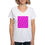 Pink Ribbon Breast Cancer Awareness Women's V-Neck