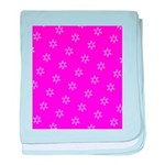 Pink Ribbon Breast Cancer Awareness baby blanket