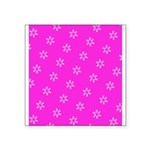 Pink Ribbon Breast Cancer Awareness Square Sticker