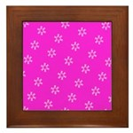 Pink Ribbon Breast Cancer Awareness Framed Tile