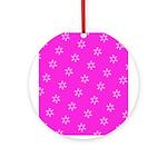 Pink Ribbon Breast Cancer Awareness Ornament (Roun