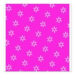 Pink Ribbon Breast Cancer Awareness Square Car Mag