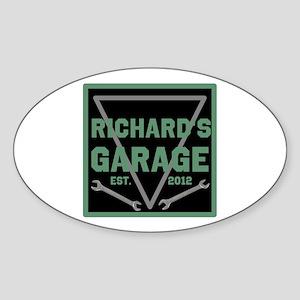 Personalized Garage Sticker (Oval)