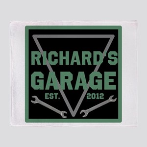 Personalized Garage Throw Blanket