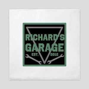 Personalized Garage Queen Duvet