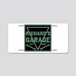 Personalized Garage Aluminum License Plate