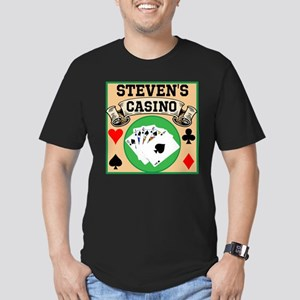 Personalized Casino Men's Fitted T-Shirt (dark)