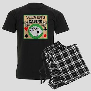 Personalized Casino Men's Dark Pajamas