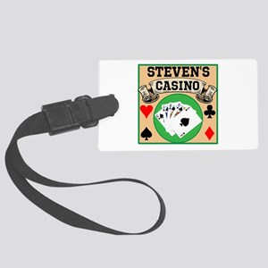 Personalized Casino Large Luggage Tag