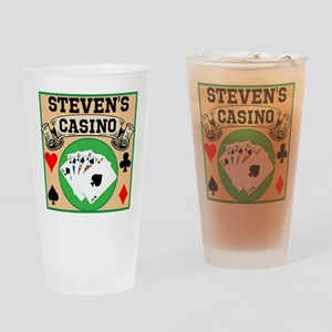 Personalized Casino Drinking Glass