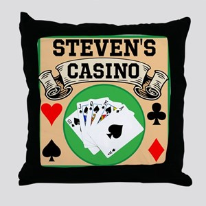Personalized Casino Throw Pillow