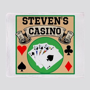Personalized Casino Throw Blanket