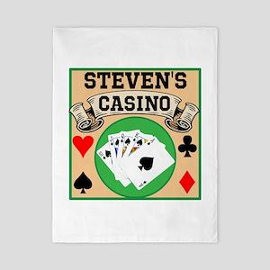 Personalized Casino Twin Duvet