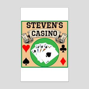 Personalized Casino Mini Poster Print