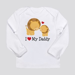 I Heart My Daddy Long Sleeve Infant T-Shirt