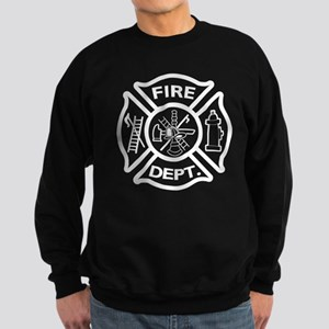 firerescue_text_dark_red Sweatshirt (dark)