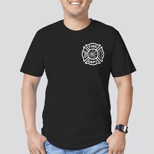 firerescue_text_dark_red Men's Fitted T-Shirt