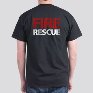 firerescue_text_dark_red Dark T-Shirt