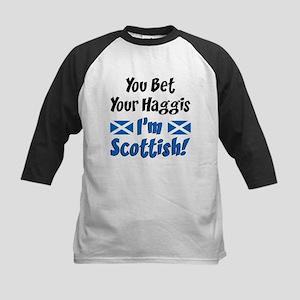 Bet Haggis Im Scottish Kids Baseball Jersey