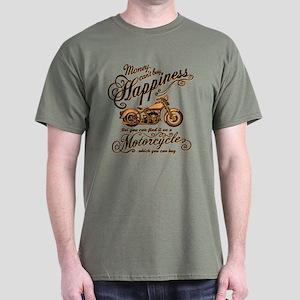 Happiness - Motorcycle Dark T-Shirt
