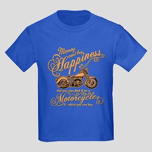 Happiness - Motorcycle Kids Dark T-Shirt