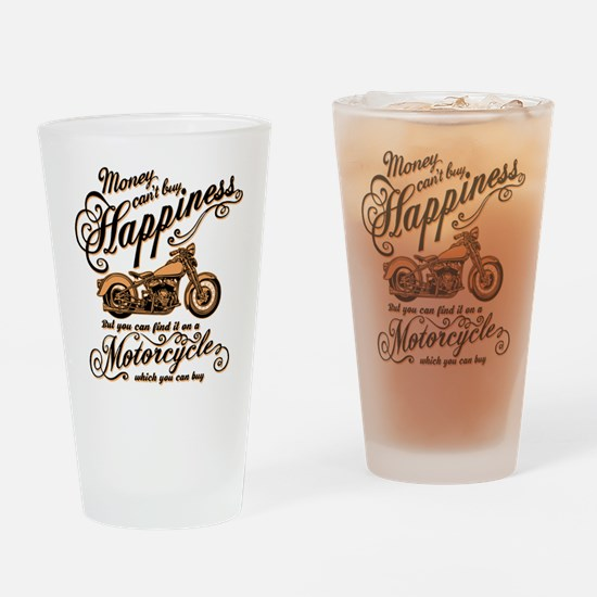 Happiness - Motorcycle Drinking Glass