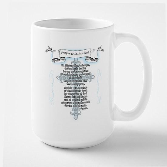 Prayer to Saint Michael Large Mug