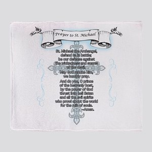 Prayer to Saint Michael Throw Blanket