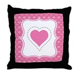 Valentine Pink Love Heart Throw Pillow