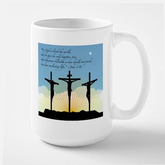 Jesus Crucifixion/John 3:16 Large Mug